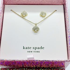 Kate Spade Signature Spade Earrings & Necklace Set